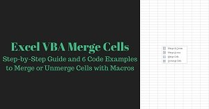 Excel VBA Tutorial about to merge and unmerge cells with macros