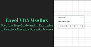 Excel VBA Tutorial about how to create a message box with macros