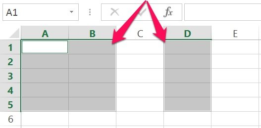 Excel's VBA Range object reference: Non-contiguous range with shortcut