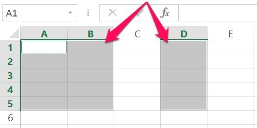 Excel's VBA Range object reference example: Non-contiguous cells