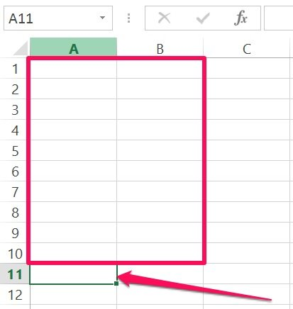 Excel's VBA Range object reference: Cell outside range