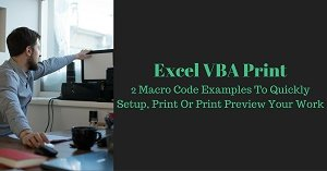 Excel VBA Tutorial about how to setup pages, print and print preview