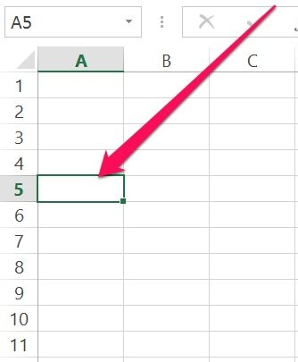 Excel's VBA Range object: Single cell within range