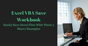 Excel VBA Tutorial about how to save workbooks and files
