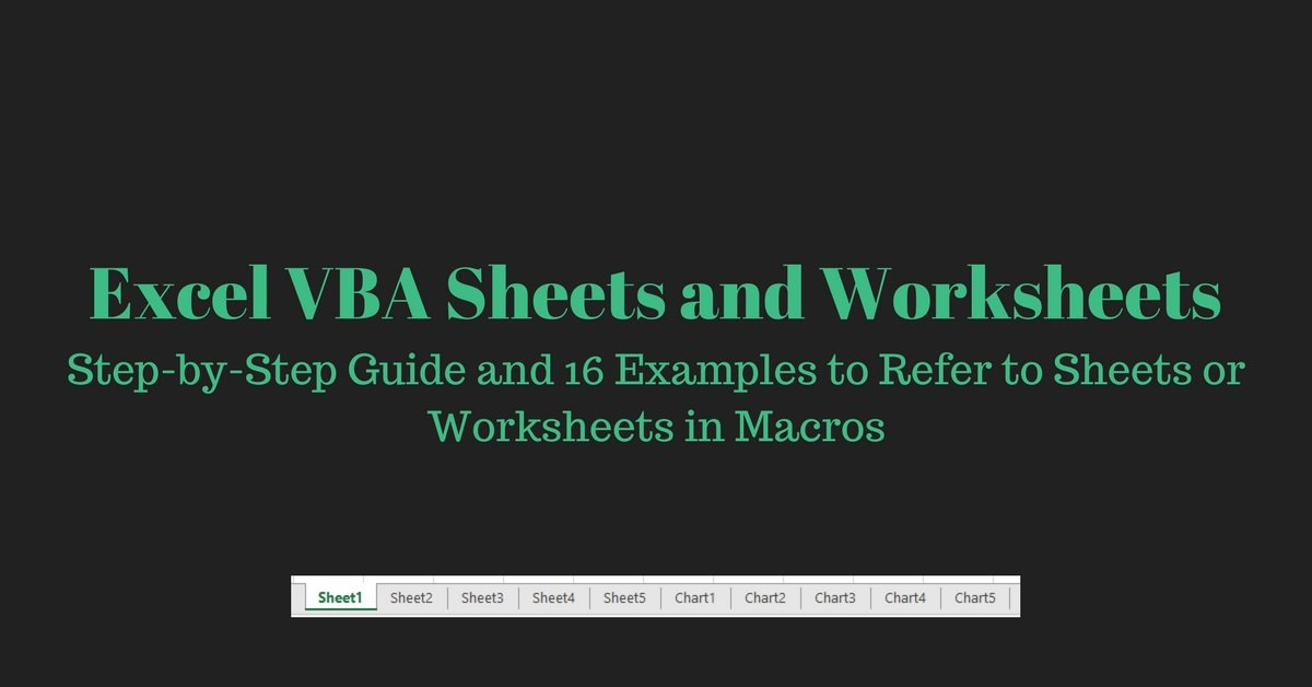 Excel vba sheets and worksheets step by step guide and 16 examples ibookread Download