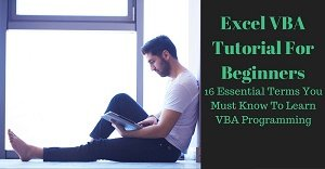 Excel VBA Tutorial about essential terms to learn