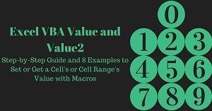 Excel VBA Tutorial about how to set or get a cell or cell range value with macros