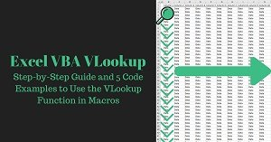 Excel VBA Tutorial about how to use the VLookup function in macros