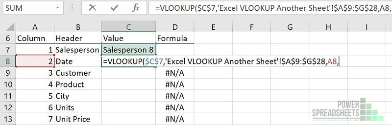 Example: Column number for VLOOKUP between sheets