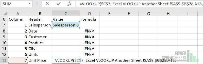 Example: Column number for VLOOKUP from another sheet