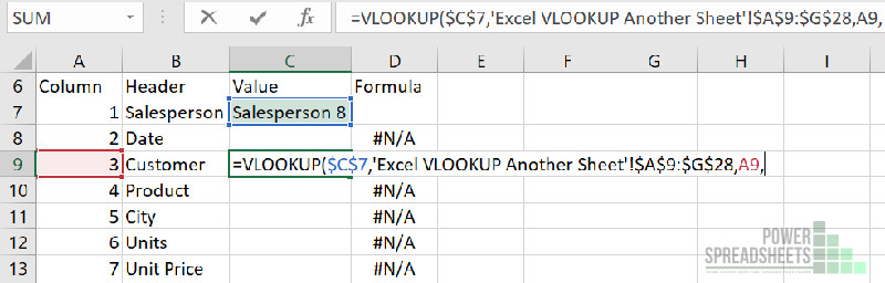 Example: Column number for VLOOKUP from different tab