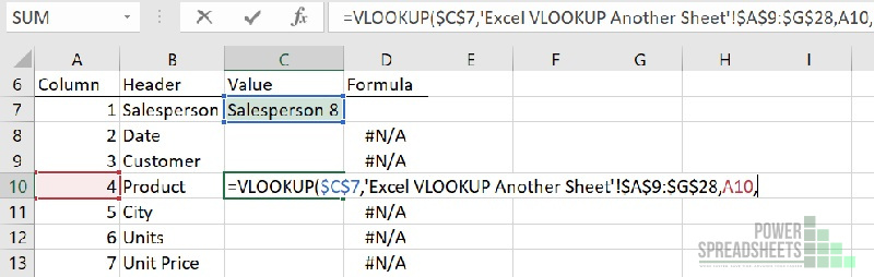 Example: Column number for VLOOKUP from another tab