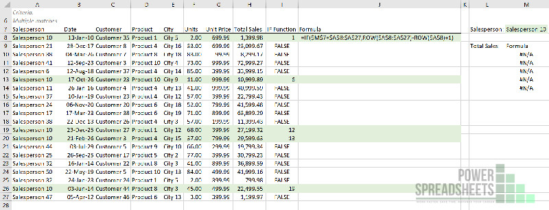 Example: Number of matches for Excel VLookup return multiple values (with the INDEX function)