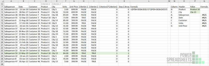 Example: Set up multiple conditions for Excel VLookup multiple criteria (INDEX MATCH)