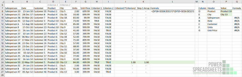 Example: Set Up the Multiple Conditions for Excel VLookup multiple criteria (with XLOOKUP)