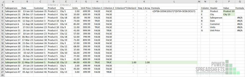 Example: Set up multiple conditions for Excel VLookup multiple criteria (with FILTER function)