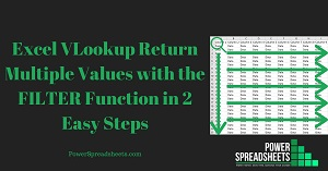 Excel VLookup Return Multiple Values with the FILTER Function in 2 Easy Steps (+ Free Easy-To-Adjust Excel Workbook Example)