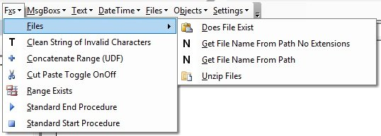 Functions > Files