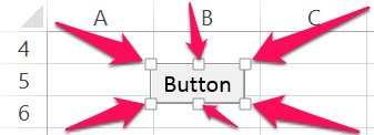 How to change the size of a button assigned to a VBA Sub procedure