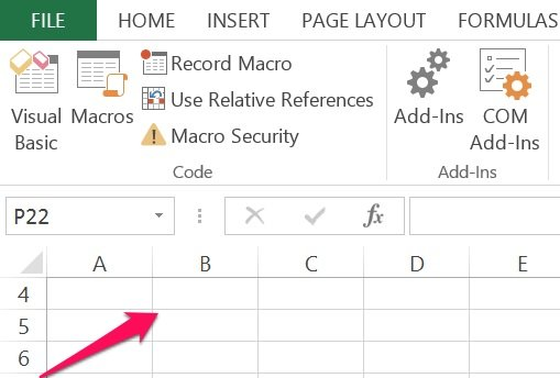 Add a button to an Excel worksheet for VBA Sub procedure