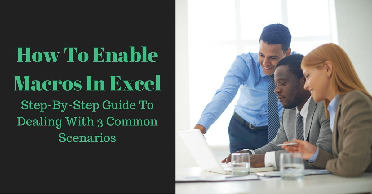 how to allow macros in excel