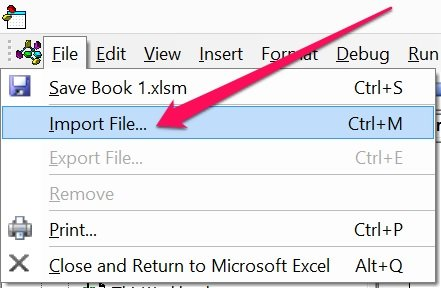 Import File option in File menu