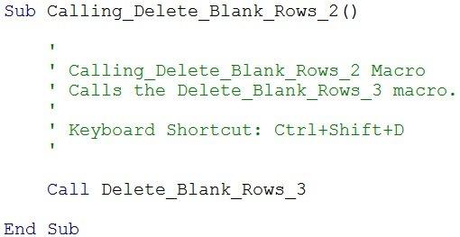 Using Call keyword to run VBA Sub procedure