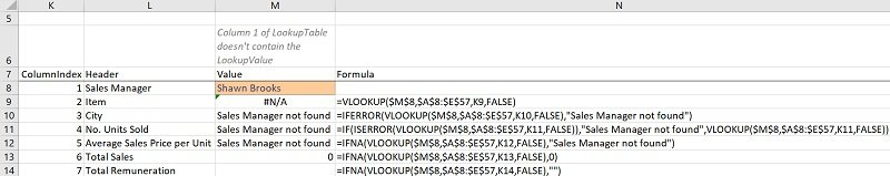IFNA VLOOKUP formula carries out a VLookup and returns a blank if the VLOOKUP function returns the #N/A error (with IFNA vs. IFERROR)