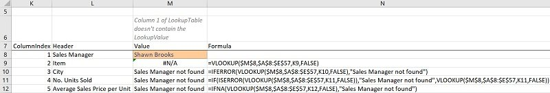 IFNA VLOOKUP formula carries out a VLookup and handles possible #N/A errors (with IFNA vs. IFERROR)