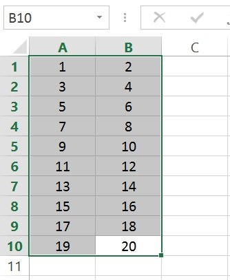 Cell_Index number assignment within range