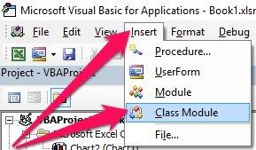 Insert > Class Module