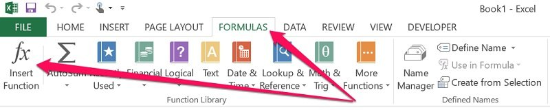 How to display Insert Function dialog in Excel