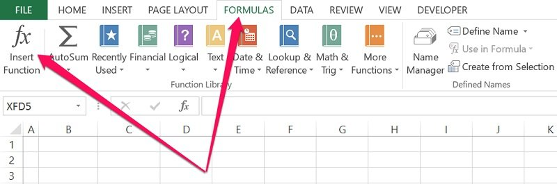 Insert worksheet function in Excel