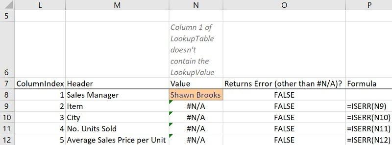 ISERR formula doesn't check for #N/A errors (ISERR vs. ISERROR)