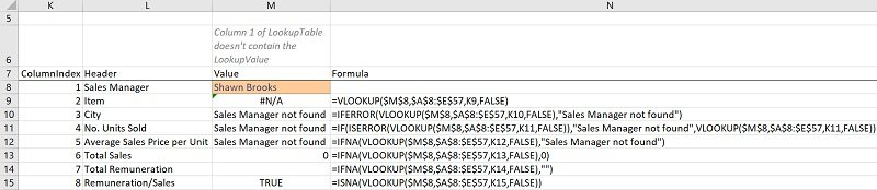 ISNA VLOOKUP formula carries out a VLookup andchecks for #N/A errors (with ISNA vs. ISERROR)