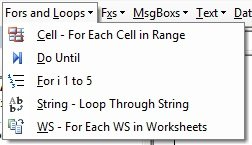 Fors and Loops drop-down