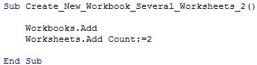 Workbooks.Add | Worksheets.Add Count:=2