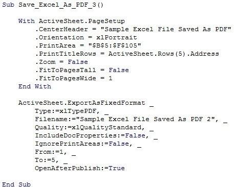 Excel vba save as