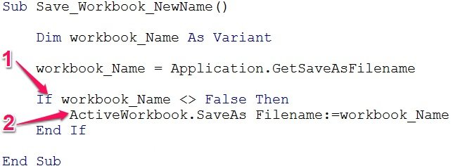 Sample VBA code with If... Then statement
