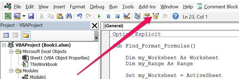Excel VBA Object Properties: Work With, And Get, Available Properties