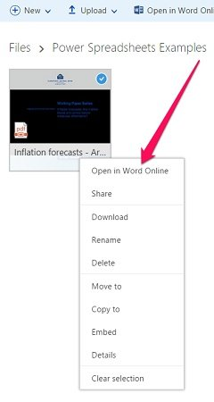 How to open PDF with Word online