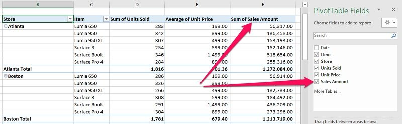 Calculated Field in PivotTable