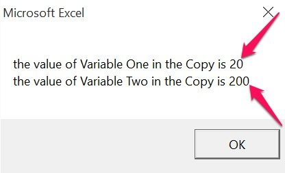 Example of procedure-only VBA variable