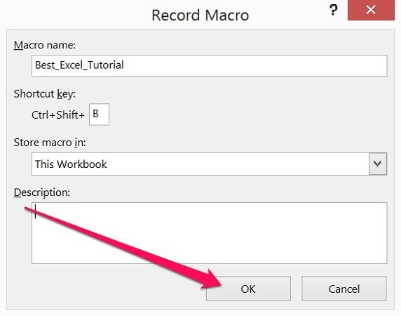 ms excel 2013 record macro