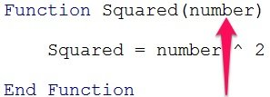Required argument in a VBA Function procedure