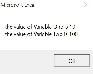 Example of procedure-only VBA variables