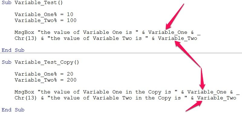 Implicitly declared variable without type-declaration character