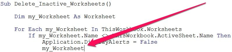 VBA code before VBE displays methods