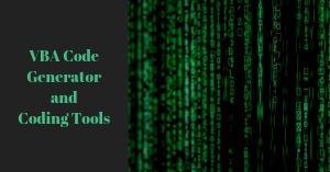 Generate VBA code from scratch