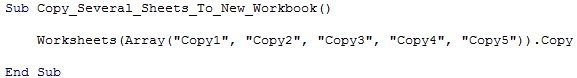 "Worksheets(Array(""Copy1"", ""Copy2"", ""Copy3"", ""Copy4"", ""Copy5"")).Copy"